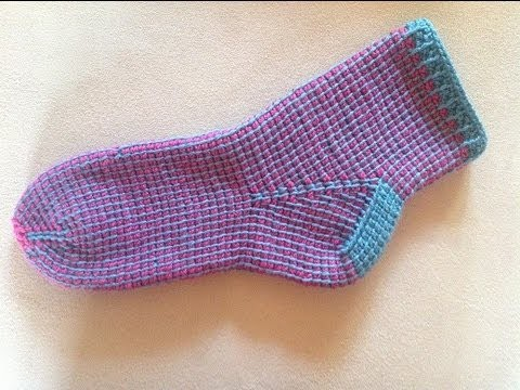 Tunesisch Häkeln Socken Im Grundmuster Veronika Hug