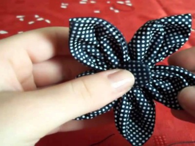 Tutorial Autunno: Cerchietto per Capelli con Fiore in Stoffa - ♥ - DIY Hairband with Fabric Flower