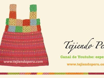 Vestido para niñas de 4 a 6 años tejido en crochet
