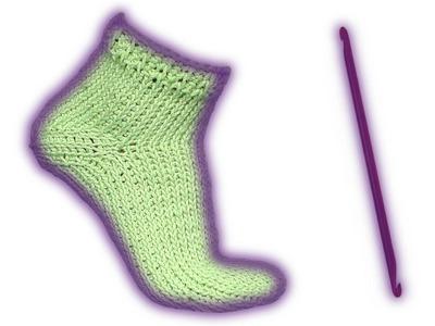 Wooly tricks sock tunisian crochet pattern