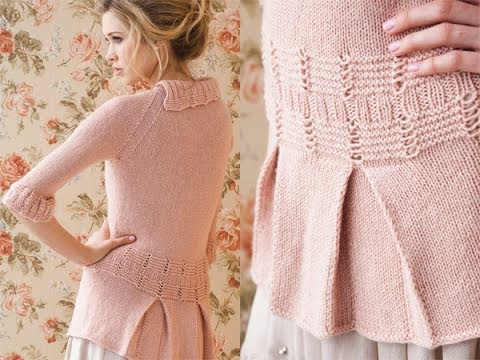 #7 Pleated Blouse, Vogue Knitting Early Fall 2010