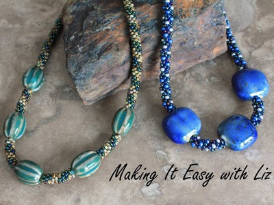 BEADED KUMIHIMO~How To Add Focal Beads ADVANCED