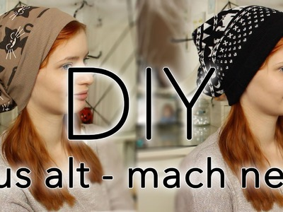 Beanie DIY ☀Do it Yourself ☀ Aus alt mach neu ;) Pulli zu Beanie