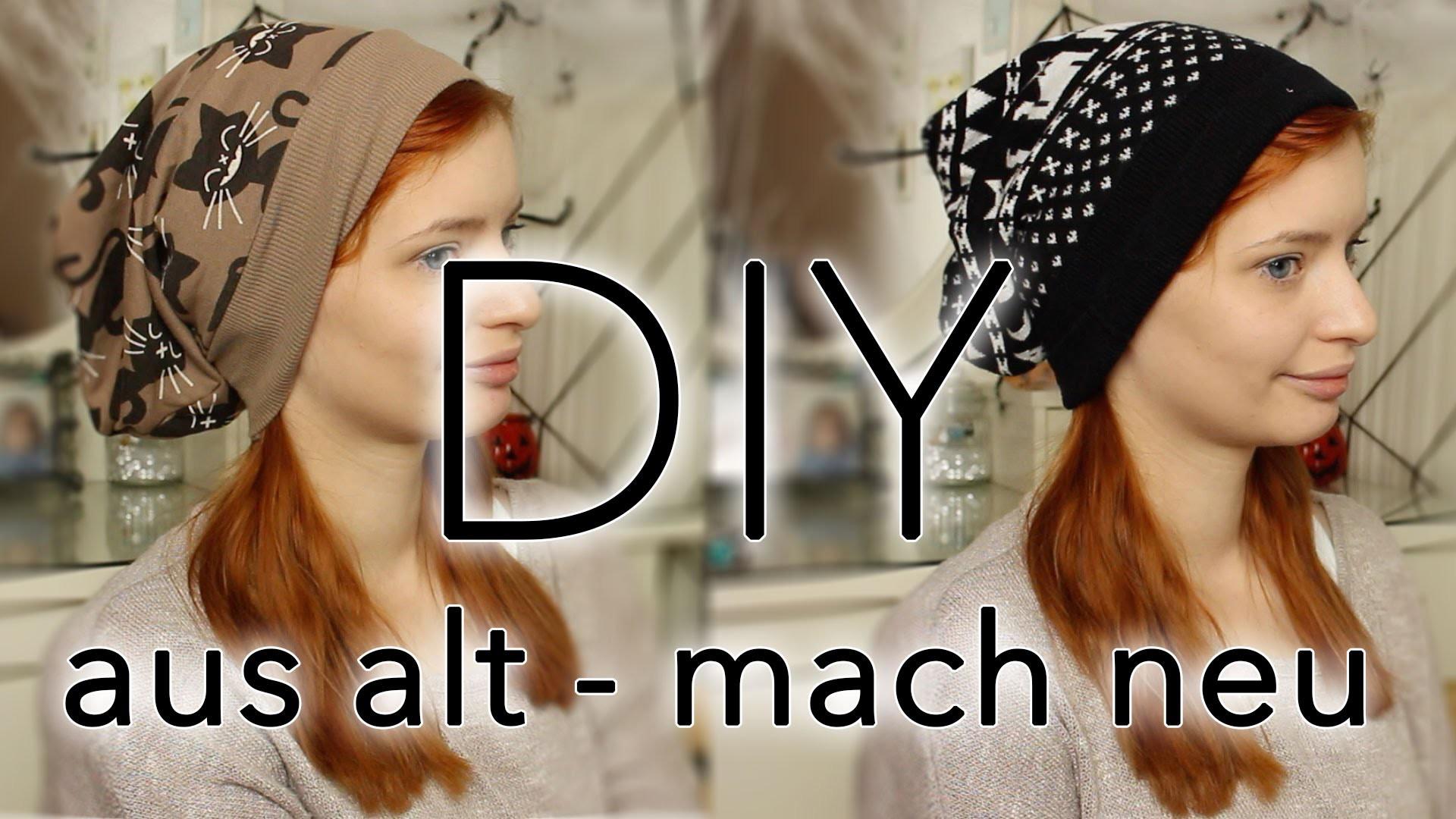Beanie DIY ☀Do it Yourself ☀ Aus alt mach neu ;) Pulli zu Beanie