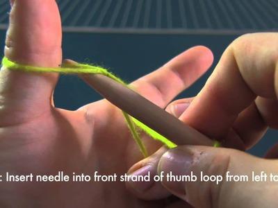 Beginner Knitting - Long Tail Cast On Tutorial