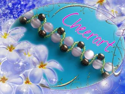 Bracelet  : diy beaded bracelet tutorial (6)穿珠教學- 優雅的串珠手鏈(6)