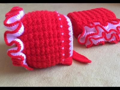 Caciulita tricotata Partea a III-a.Вязание спицами для начинающих Вязаная шапка.How to knit a hat