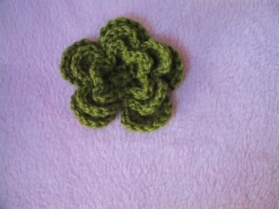 Πλεκτο Λουλουδι σε Τρια Επιπεδα. Crochet 3- Layer Flower Tutorial