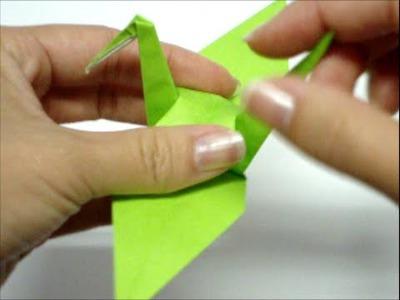 Como dobrar um Tsuru (Origami)