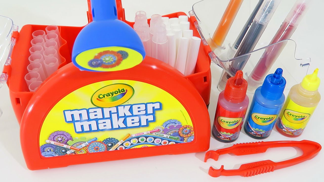 Crayola Marker Maker + WHACKY TIPS Play Kit | Easy DIY Make Your Own Color Markers!