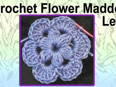 Crochet Flower Maddow Left Hand Crochet Geek