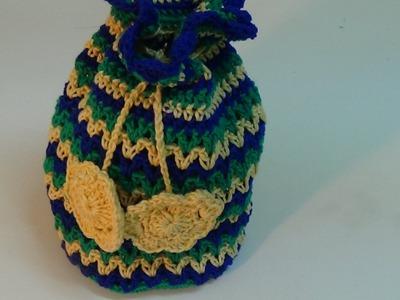 Crochet mini pouch-3