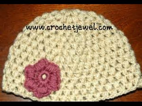 Crochet Puff Stitch Hat (12 Month old-3 year old & 3-10 year old) Part III
