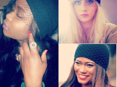 D. I. Y | Veiled Beanies |no sewing