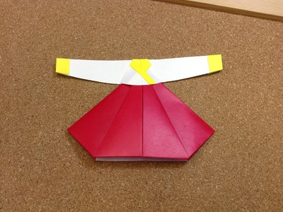 Daily Origami: 695 - Traditional Korean Dress