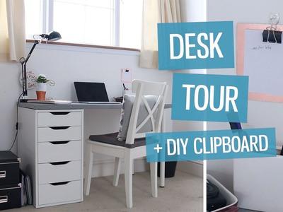 Desk tour! Design workspace + DIY clipboard | CharliMarieTV