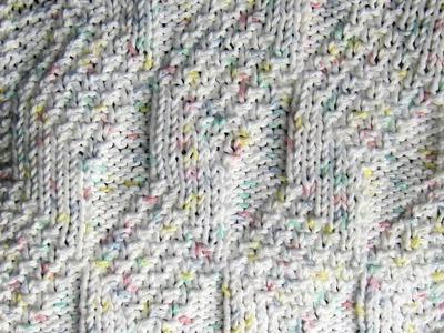 Diamond and Lozenge Dishcloth Knit Along  Part Four