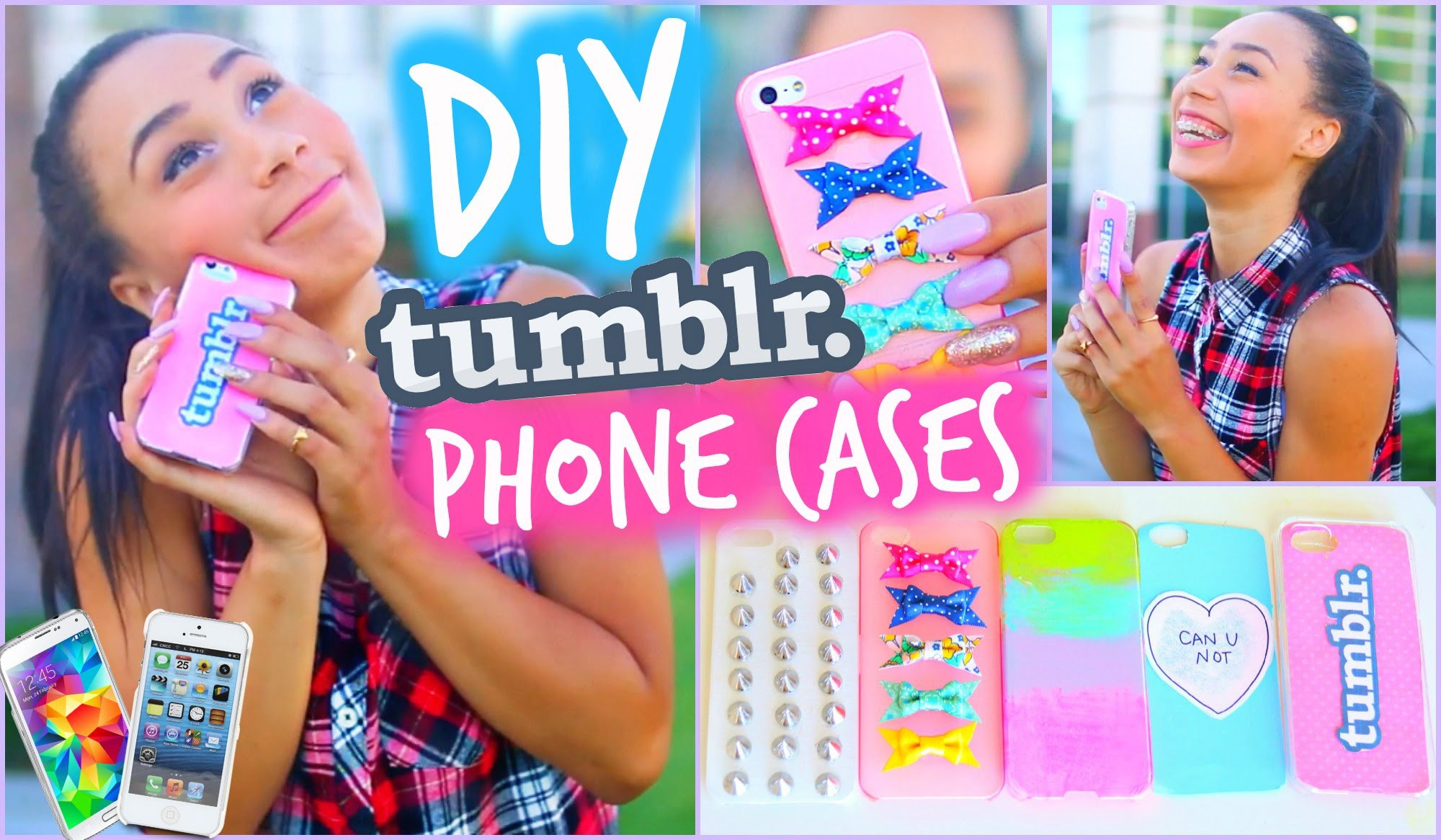 DIY 5 Easy Phone Cases (Studded, Ombre & More) | Tumblr Inspired