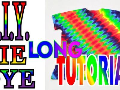 DIY Angled Symmetrical Rainbow Tie Dye Shirt [Full Tutorial]