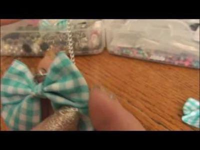 DIY: Bow Necklace.