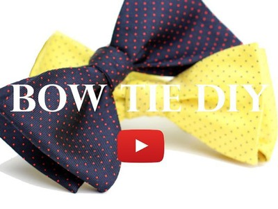 DIY Bow Tie Project - How to Make a Bow Tie