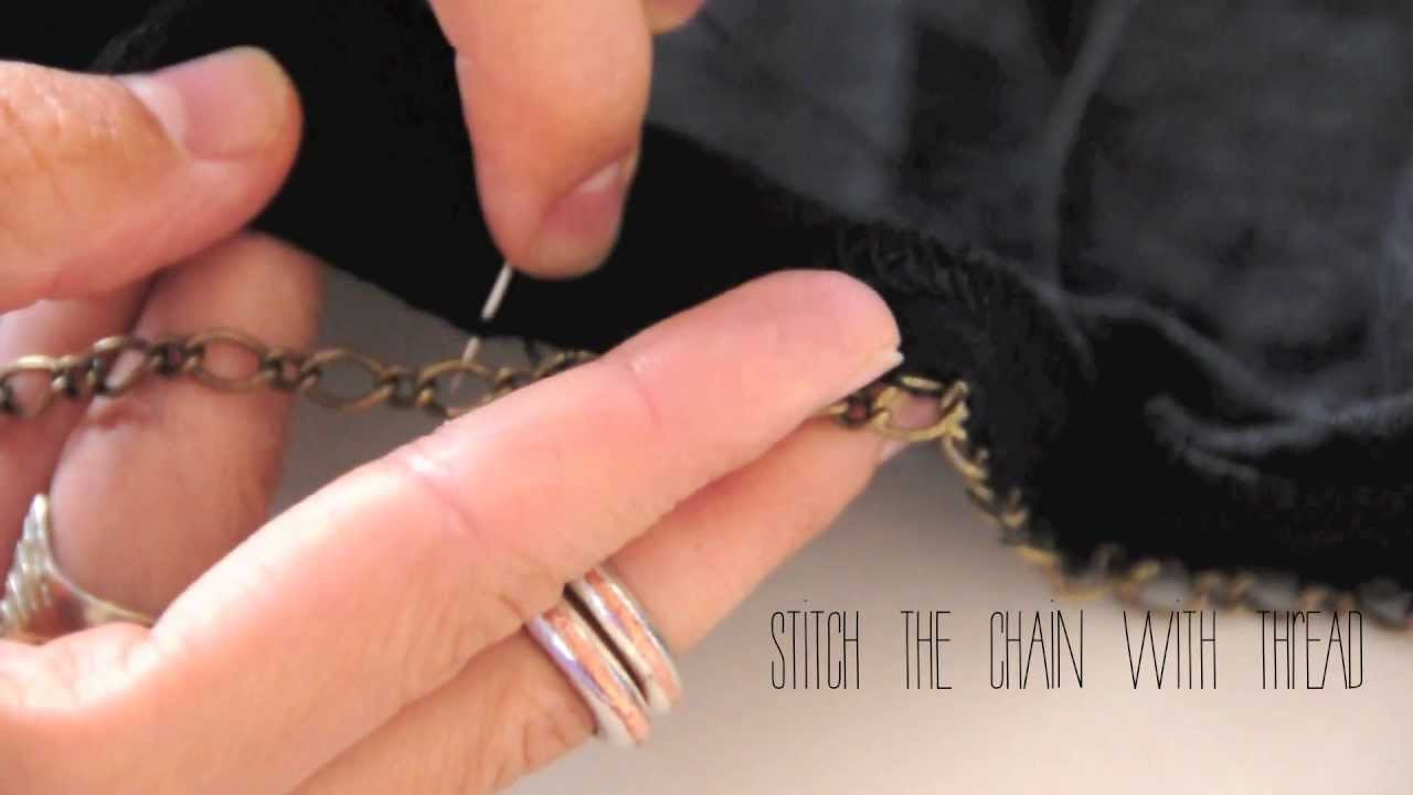 DIY chained-up tee-shirt, DIY fashion tutorial