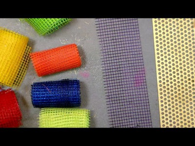 DIY colored mesh for cards scrapbooks and art journals