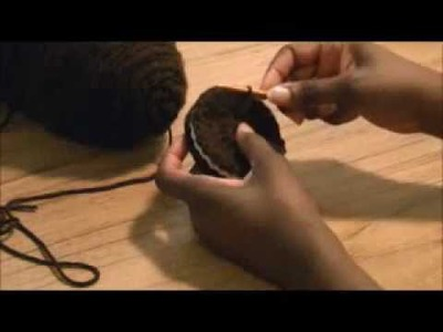 DIY Crochet Chocolate Cream Filled Cookies - Decorative Treats