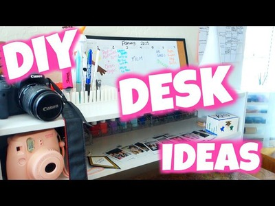 DIY Desk Decor & Organization Ideas: College Desk Tour 2015!