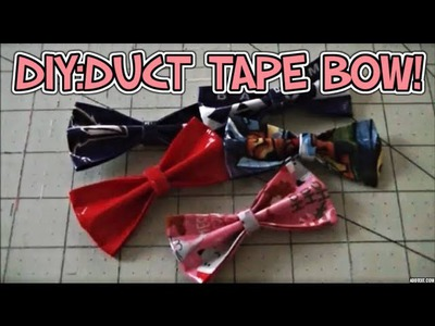 DIY:Duct Tape Bow Tutorial!