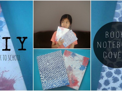 DIY Easy Book.Notebook Covers︱Back To School
