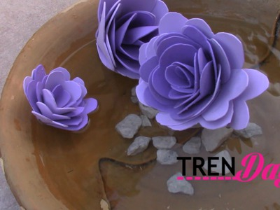 DIY FLOATING FLOWER TUTORIAL - MADE FROM FOAM SHEETS