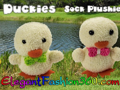 DIY Kawaii Ducky.Chick Sock Plushie.Sock Stuffed Animal.Easter - How to by Elegant Fashion 360