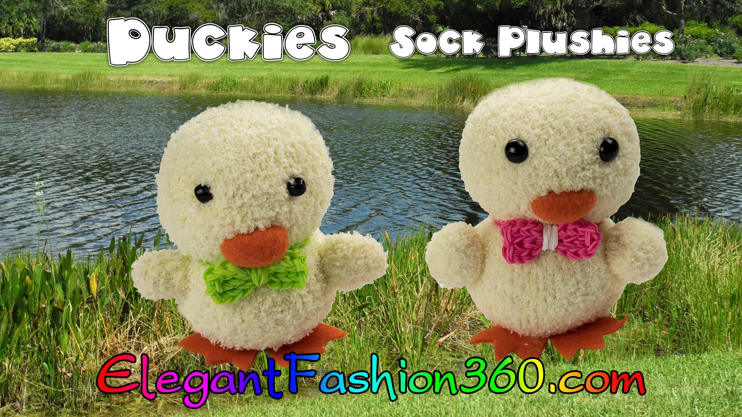 DIY Kawaii Ducky.Chick Sock Plushie.Sock Stuffed Animal.Easter - How to by Elegant Fashion 360