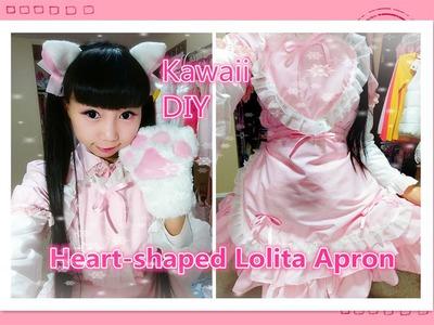 DIY- Kawaii Heart-shaped Lolita Apron Dress(cross straps) - Easy