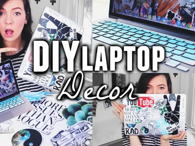 DIY LAPTOP DECOR ! Tumblr + Pinterest Inspired !