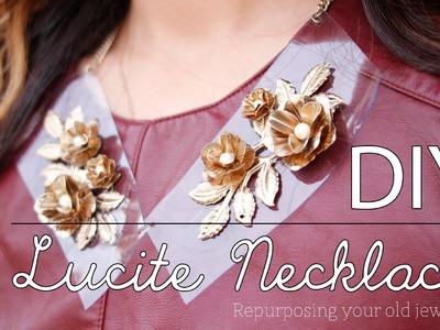 DIY Lucite Necklace (Repurposing Jewelry) | beautybitten