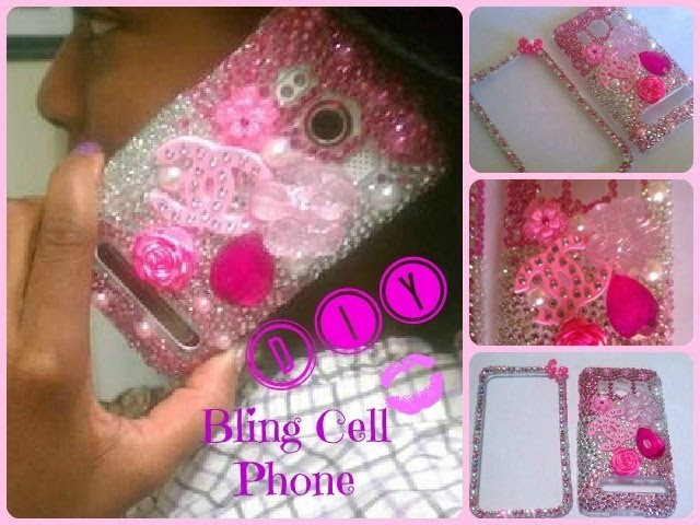 DIY ♥ Pink Bling Cell Phone Case (Super Easy)