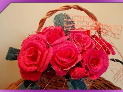 DIY Róże z bibuły. Tissue paper roses (+ENG Annotations) - Na szybko #4