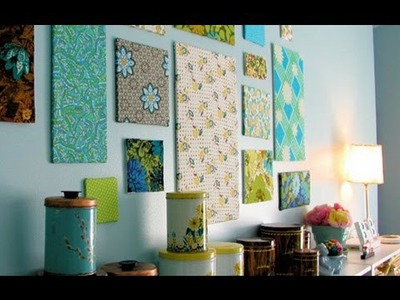 DIY Room Decor- Fabric Frames (in HD)
