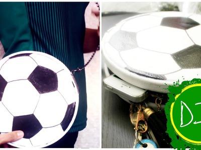 DIY: Soccer Ball Clutch. Crossbody (Bolsa de Football)