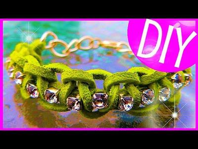 DIY Suede Diamond Bracelet :: 2CupsofDelight