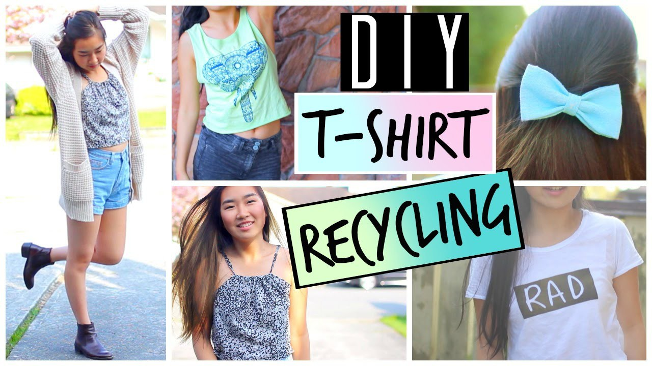 DIY Ways to Upcycle and Recycle Old T-Shirts and Clothes | DIY Tumblr Graphic Tee