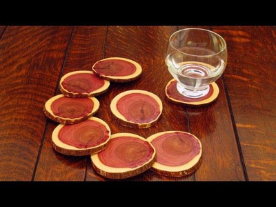 DIY Wood Coasters Made from a Log: How to Make Drink Coasters