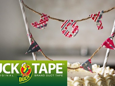 Duck Tape Crafts: How to Make Cake Toppers with LaurDIY