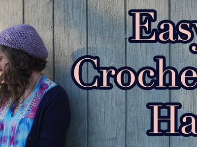 Easy Crochet Slouchy Hat