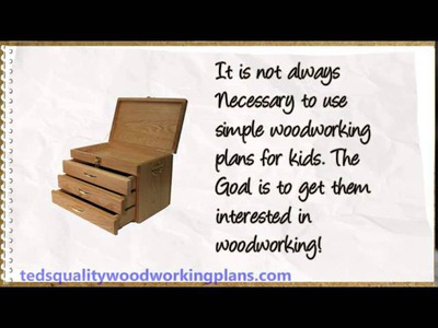 Easy DIY Wood Projects for Kids - Woodworking for kids Plans
