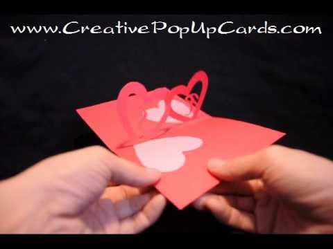 Easy Valentine's Day Pop Up Card: Linked Hearts