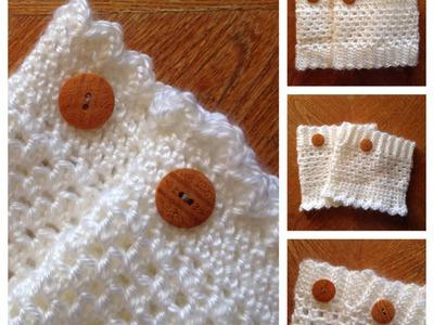 FREE Crochet Reversible Boot Cuff Pattern Part 3 of 3