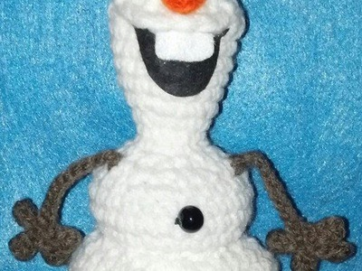 Frozen Inspired Olaf - Like Crochet Snowman EYEBROW Tutorial